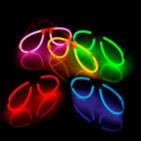Glow brillen mix kleuren